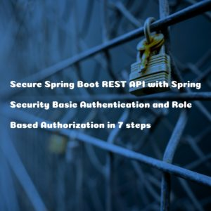 7 Steps to Secure Spring Boot 2 REST API with Spring Security Basic Authentication, Role based Authorization and MySQL Database
