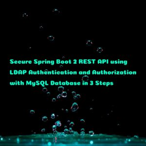 How to Secure Spring Boot 2 REST API using LDAP Authentication and Authorization with MySQL Database in 3 Steps
