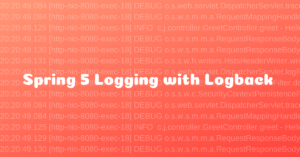 Spring 5 Logging using Logback without using Spring Boot