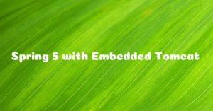 How to Build Spring 5 REST API with Embedded Tomcat without using Spring Boot
