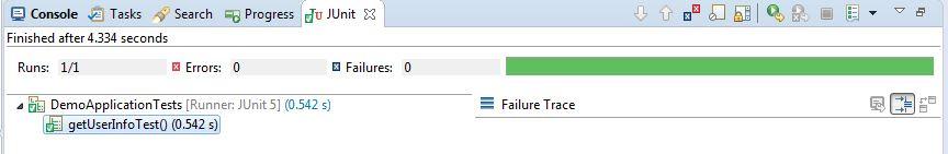 Junit 5 test execution result
