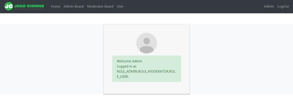 Angular admin home page