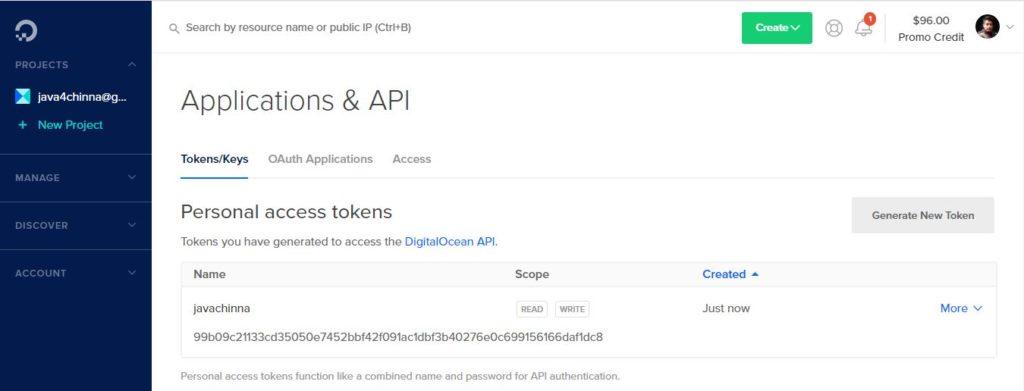 DO API Access Token