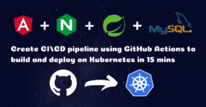 Create CI/CD pipeline using GitHub Actions to Build and Deploy Angular Spring Boot App on Kubernetes in 15 mins